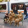 Inviting statue in Eskisehir