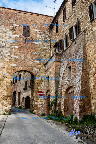 One of the gates leading from the walled city, Montepulciano