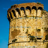 Circular tower on the city walls, San Gimignano