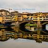Florence, River Arno at Ponte Vecchio