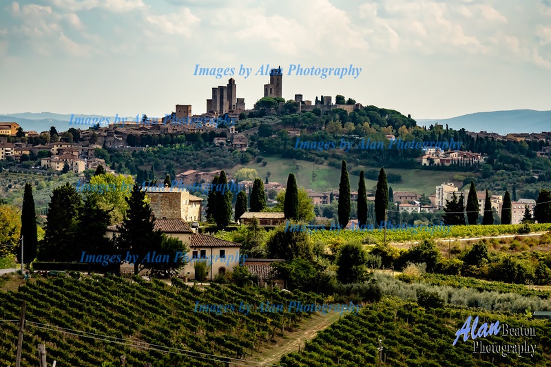 View of the towers of San Gimignano