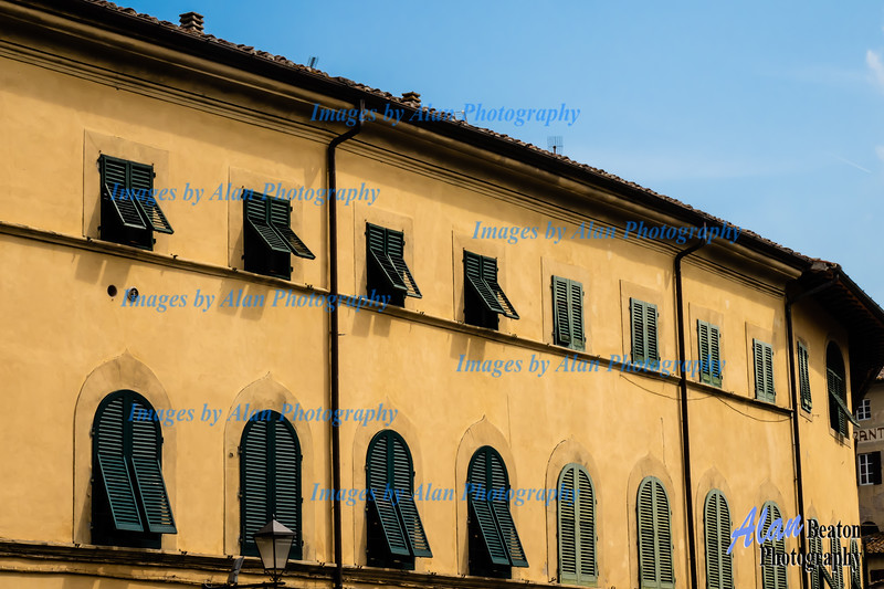 Shuttered windows, San Miniato