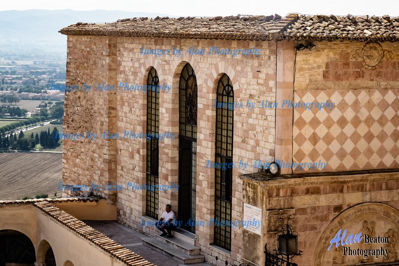 Just resting! Basilica San Francesco, Assisi