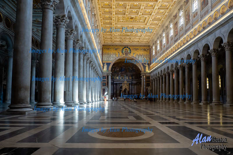 Interior hallway, St Paul Basilica, Rome