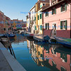 Canal reflections in Burano