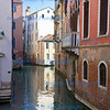 View of side canal from the Rialto Bridge in San Polo