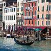 Gondola on Garnd Canal at Rialto Bridge