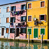 Overlooking a canal in Burano