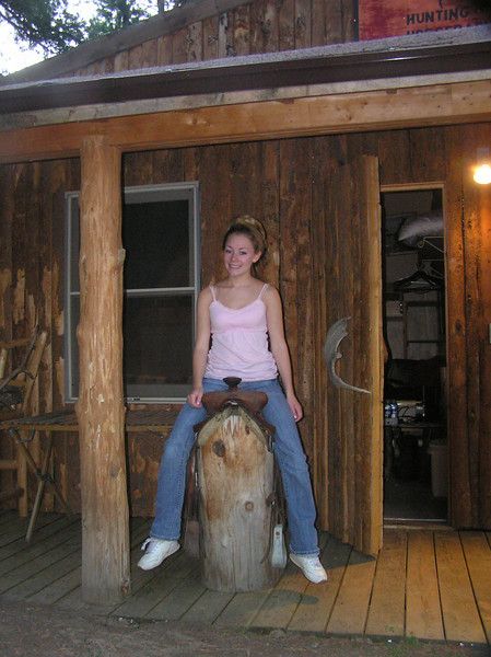 7/07' - In front of our cabin at Redfeathers in northwestern CO the night before we were to leave on our pack trip.