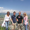 Casey and Brett with Cousin Curt and Jena at the top of Snow King Moutain.