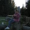 Casey enjoying her smoores