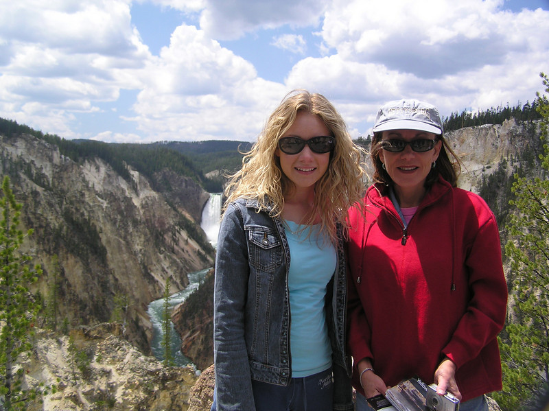 Casey and mom. Yellowstone.