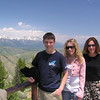 Brett, Casey and mom at the top of Snow King Mountain.