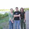 Casey, Brett and Mom at a stop along a creek in Jackson.