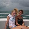 Casey and Jamie on the boat heading out to our parasailing excursion!