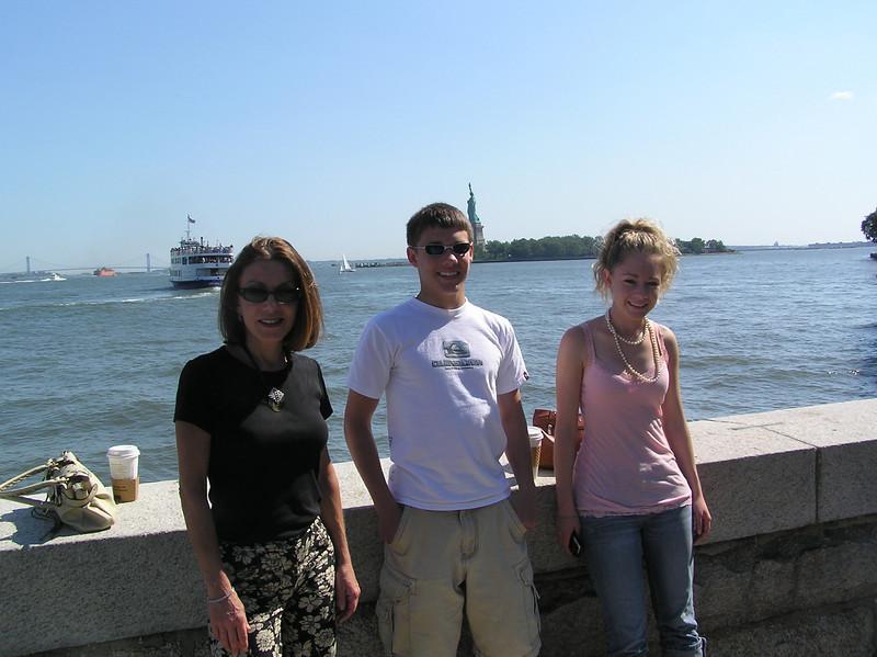 Mom, Brett and Casey on Ellis Island.