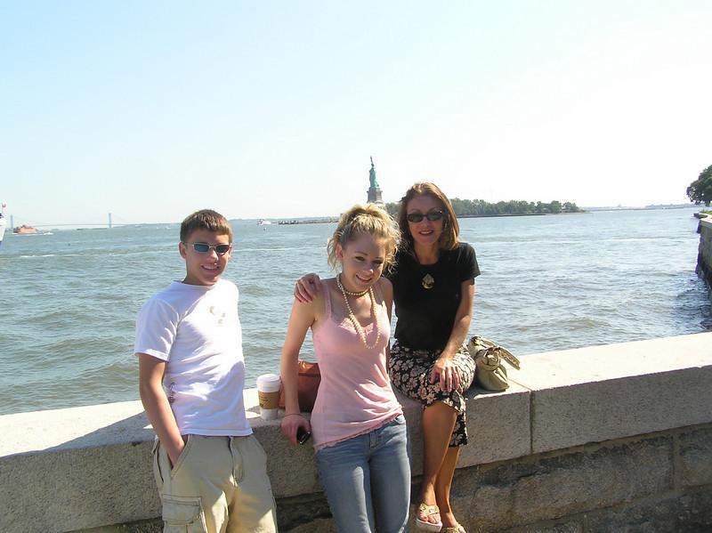 Brett, Casey & Mom at Ellis Island.