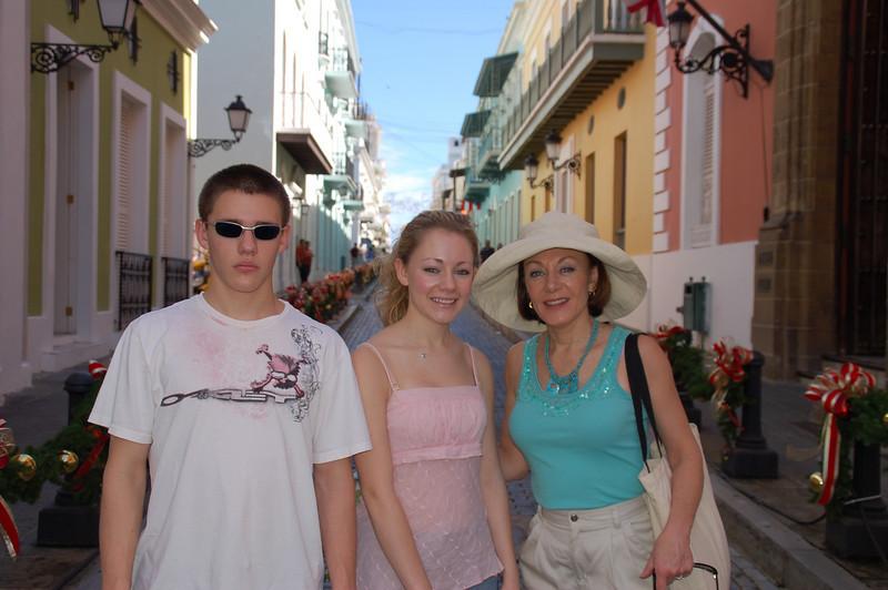 Old San Juan - Brett, Casey & Mom.