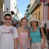 Old San Juan - Brett, Casey & Mom.