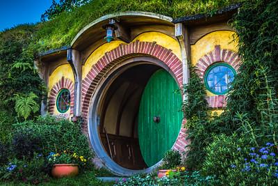 Bag End, home of Bilbo and Frodo Baggins.