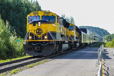 Alaska Railroad Train Ride - Talkeenta to Denali National Park