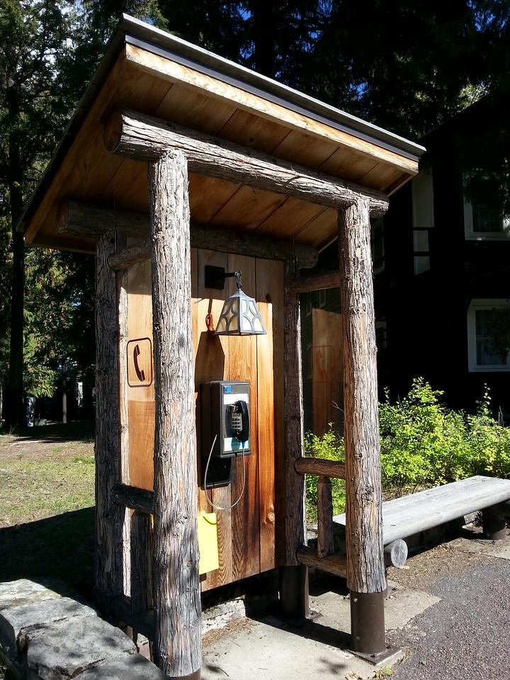 Phone booth Lake McDonald Lodge Glacier National Park
