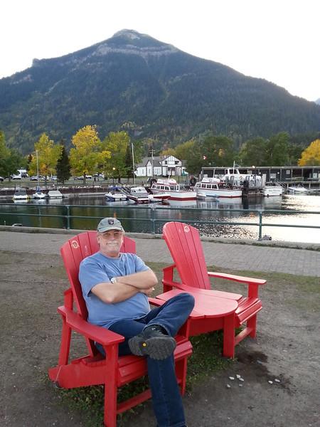 John relaxing in Waterton