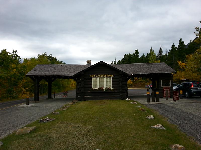 Many Glacier Entrance Station Glacier National Park