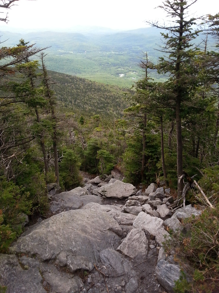 rock scramble near summit of Mt Abraham