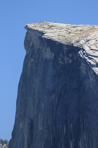 Image 2 of 5: View of Half Dome from Glacier Point. 800mm lens at full zoom.  Note hikers on top.