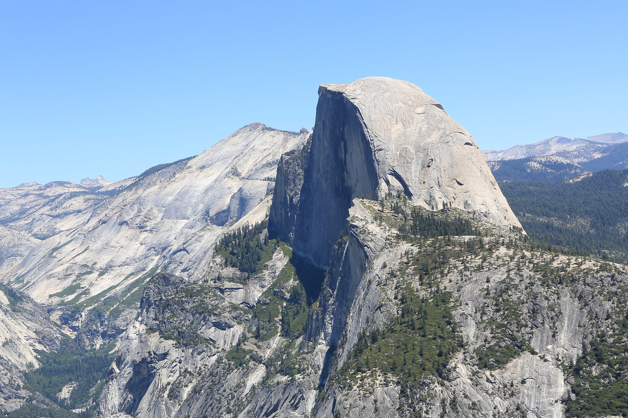 Image 1 of 5: 70mm shot of Half Dome from Glacier Point.