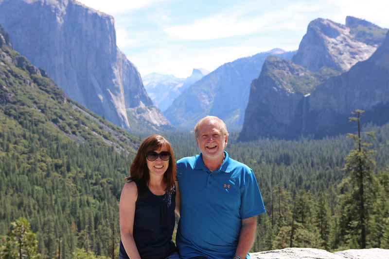 Maryellen and John at Tunnel View.