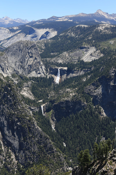 Nevada (upper) and Vernal Falls (lower) as seen from Glacier Point.
