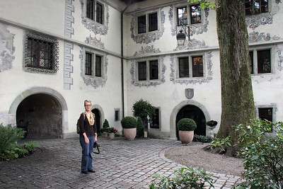 Our hotel in Bregenz, Austria was a small castle up on the hill above the city center.