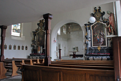 Inside a small church that was built into the castle walls.