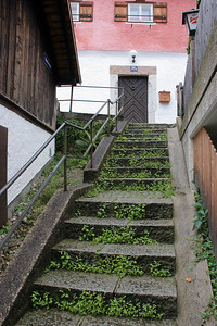 Being a town clinging to the side of a mountain, there were many such stairway streets,  .