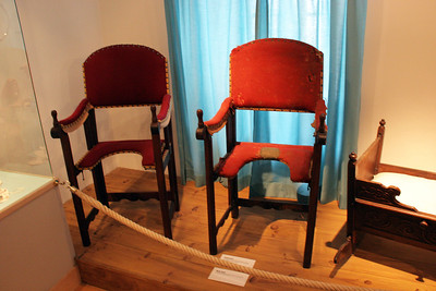 "These are ""birthing chairs"", in use in the early 1800's."