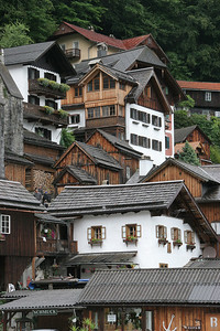 The way the houses climbed up the mountainside reminded me of our years in Ketchikan, Alaska, and the rain certainly filled in that feeling.  But, Hallstatt is a lot cleaner and in better repair.