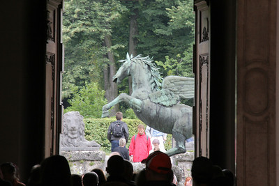 Now we tour, on our own, the area of Salzburg to the north of the Salzbach River.  This Pegasus is in Mirabell Gardens, and was also involved in one of the SOM movie scenes.