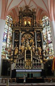 The altar ...