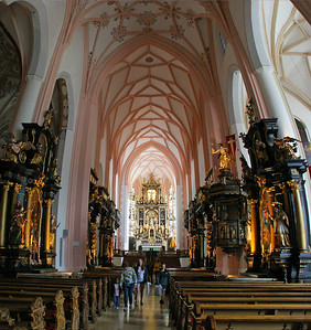 A 4-image (stacked vertically) panorama capture to get a wider look at the church interior.