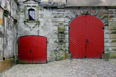 Kronberg Castle doors.