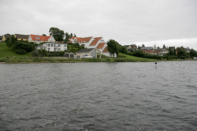 We stayed two nights in the small Danish town of Jyllinge (Yuh-ling-guh).  Our hotel sits right on the Roskilde Fjord.