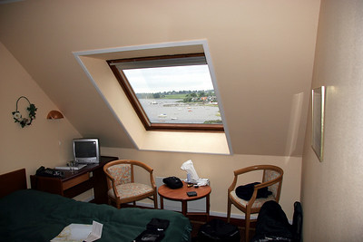 Our room in Jyllinge looked out over the waters of Roskilde Fjord.