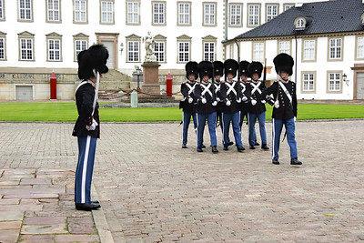 Changing of the Guard, Fredensborg Slot.