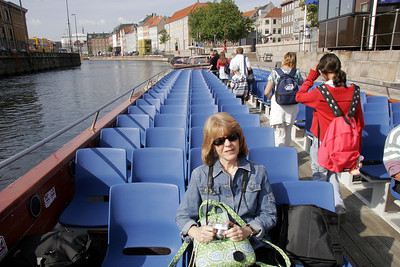 "After a train ride from Odense, we start with a boat tour of Copenhagen's harbor.  In Danish, København means ""Merchant's Harbor""."