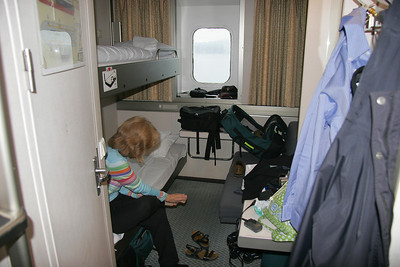 Our ferry stateroom.