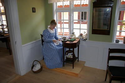 Actors portray life in this old Danish town from about the 1600s.