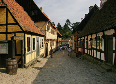 Our first stop is the living history museum village of Den Gamle By in the city of Århus.