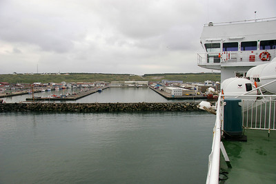Our ferry arrives in the port of Hanstholm at the northwest corner of Jutland, Denmark's large western peninsula.